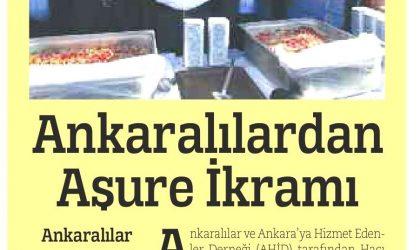 Ankaralılardan Aşure İkramı – Habervaktim Gazetesi – 9 Ekim 2017