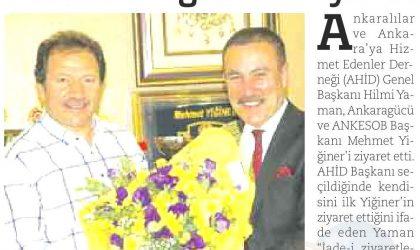 AHİD Başkanı Yaman'dan Mehmet Yiğiner'e Ziyaret – Habervaktim Gazetesi – 27 Temmuz 2017