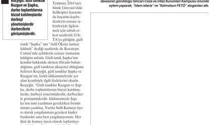 Üzerindeki Dolarlar Kefen Parasıymış! – Yeniçağ Gazetesi – 11 Ağustos 2017
