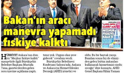 Başkan Tuna Ziyaret – Hürriyet Ankara – 16 Kasım 2017
