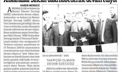 Ankaralılar Sincan'daki Nöbetlerine Devam Ediyor – Anadolu – 24 Şubat 2018