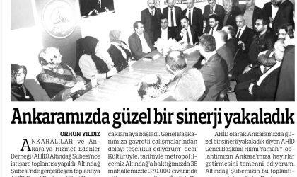 Ankaramızda Güzel Bir Sinerji Yakaladık – Anadolu – 31 Mart 2018