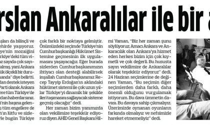Ali İhsan Arslan Ankaralılar ile Bir Araya Geldik – Anadolu – 31 Mayıs 2018