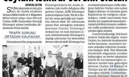 Ceylan: İstikrar Sürekli Olacak – Anadolu – 02 Haziran 2018