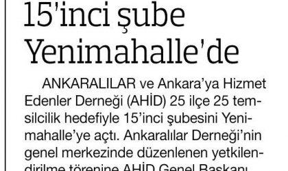 15'inci Şube Yenimahalle'de – Habertürk Ankara – 08 Aralık 2017