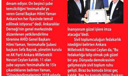 AHİD'den Yenimahalle'ye Şube – Milliyet Ankara – 08 Aralık 2017