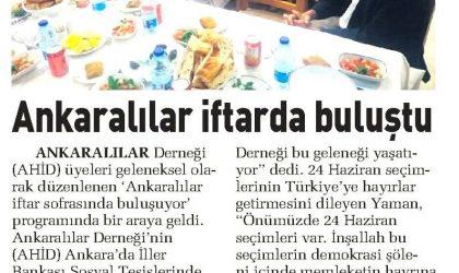 Ankaralılar İftarda Buluştu – Sabah Ankara – 10 Haziran 2018