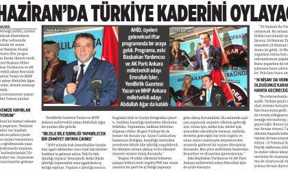24 Haziran'da Türkiye Kaderini Oylayacak – Yenibirlik – 10 Haziran 2018