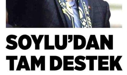 Soylu'dan Tam Destek – Milliyet Ankara – 5 Mart 2019