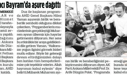 Ankaralılar Hacı Bayram'da Aşure Dağıttı – Anadolu – 25 Eylül 2018