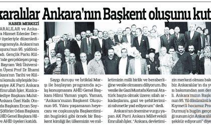 Ankaralılar Ankara'nın Başkent Oluşunu Kutladılar – Anadolu – 18 Ekim 2018
