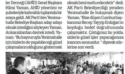 Yaman'a Ankaralılardan Tam Destek – Anadolu – 13 Kasım 2018