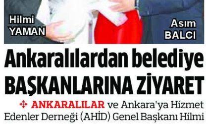 Ankaralılardan Belediye Başkanlarına Ziyaret – Anadolu – 27 Nisan 2019