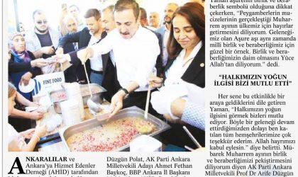 Ankaralılar Hacı Bayram'da Aşure Dağıttı – Ankara Güçlü Anadolu – 25 Eylül 2018