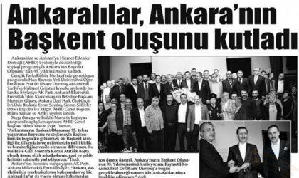 Ankaralılar Ankara'nın Başkent Oluşunu Kutladı – Flaş Gazetesi – 22 Ekim 2018