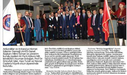 Ankara Milletvekillerine Ziyaret – Flaş Gazetesi – 31 Ekim 2018