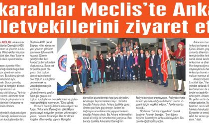 Ankaralılar Meclis'te Milletvekillerini Ziyaret Etti – Haber 06 Gazetesi – 01 Kasım 2018