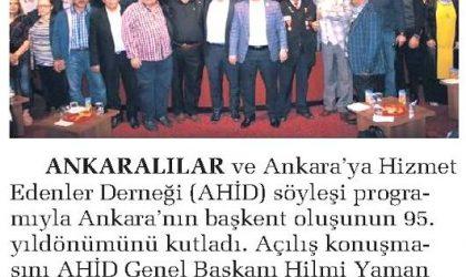 Ankara'nın Başkent Oluşu Kutlandı – Sabah Ankara – 16 Ekim 2018