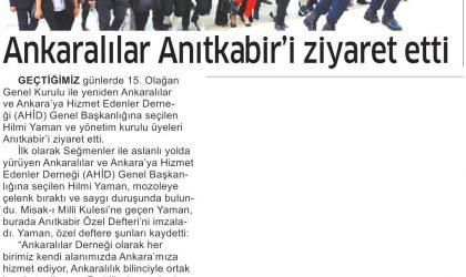 Ankaralılar Anıtkabir'i Ziyaret Etti – Ticari Hayat – 20 Temmuz 2019