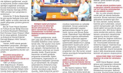 AHİD Ankaralılar Arasındaki Birlik ve Beraberliği Sağlıyor – Ticari Hayat – 23 Ağustos 2019