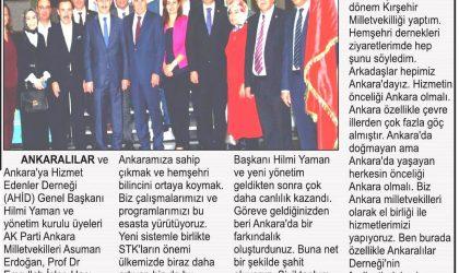 Ankaralılardan Milletvekili Turan'a Ziyaret – Umut Haber – 20 Ekim 2018